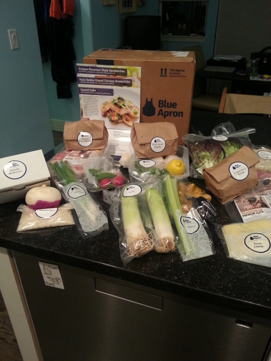 Blue Apron Box Oepn