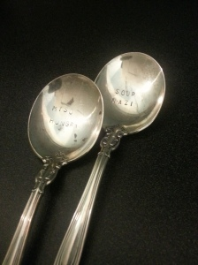 Plated Soup Spoons