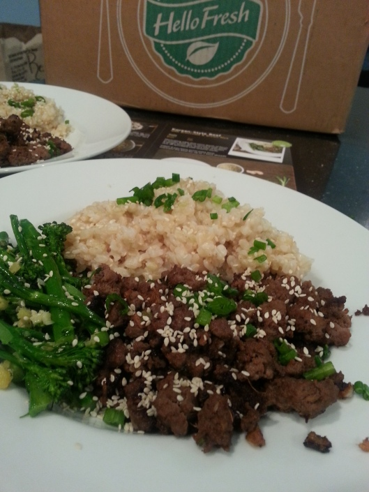 HelloFresh Korean Style Beef